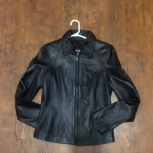Size XS Woman's Danier Black Leather Jacket